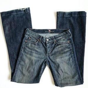 7 For All Mankind Dojo Jeans Women's Sz 28 Flare
